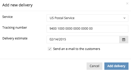 Adding a tracking number to an order – Support Center