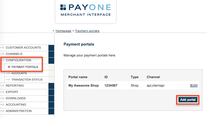 how to set up in myob invoice portal